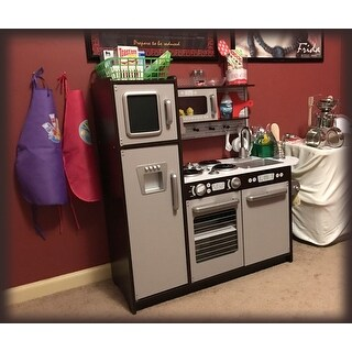 KidKraft Uptown Silver/Espresso Kitchen - Free Shipping Today ...