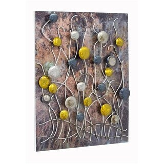 Cirque Vertical Wall Panel with 3D Metail Circles & Stems -