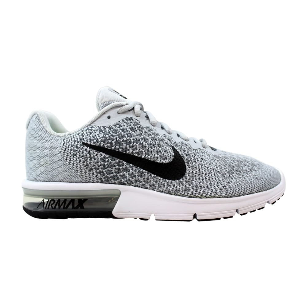 Nike Air Max Sequent 2 Pure PlatinumBlack Cool Grey 852461 002 Men's