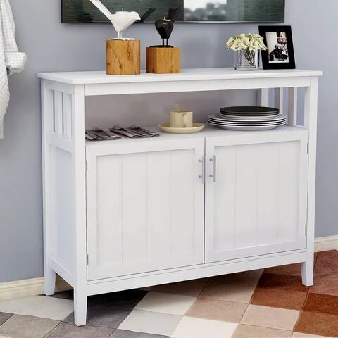 Kitchen storage sideboard cabinet-White