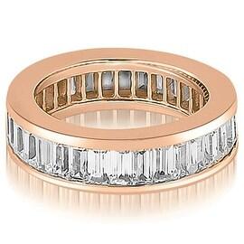 4.00 cttw. 14K Rose Gold Baguette Diamond Eternity Ring