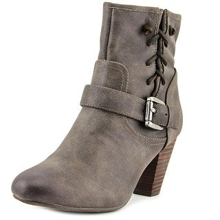 Report Milan Women  Round Toe Synthetic Brown Ankle Boot