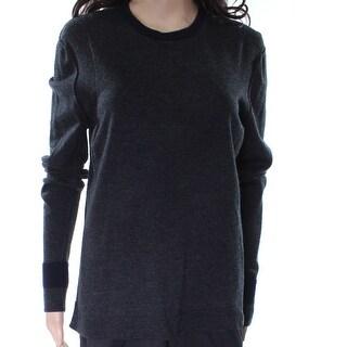 Elie Tahari NEW Gray Women's Size Medium M Crewneck Wool Sweater