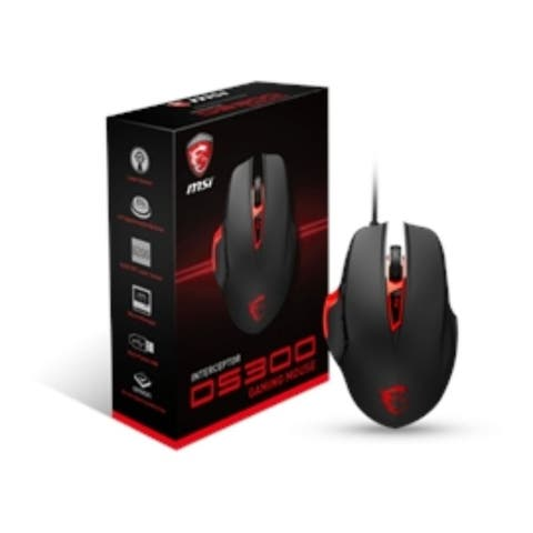 MSI Mouse Interceptor DS300 Gaming Mouse USB LASER Black Retail