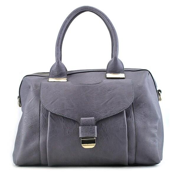 Urban Expressions Angel Leather Shoulder Bag - gray