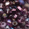 Czech Seed Beads 6/0 ''Purple Passion'' Mix (1 Ounce) - Thumbnail 0