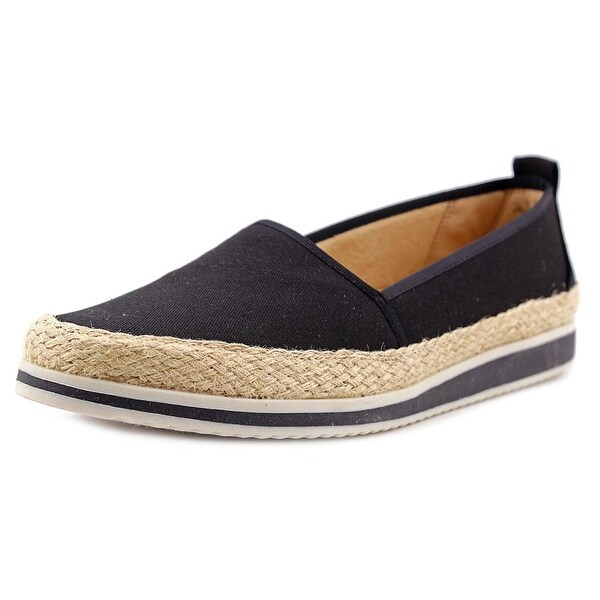 Naturalizer Davenport Women Round Toe Canvas Black Espadrille