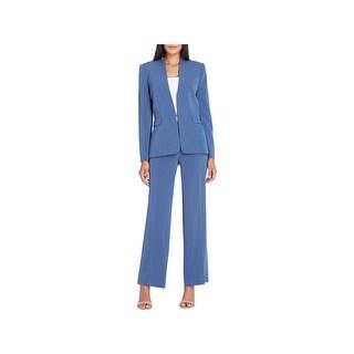Tahari ASL Womens Pant Suit Collarless Professional