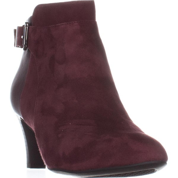 A35 Viollet Ankle Booties, Mulberry Suede