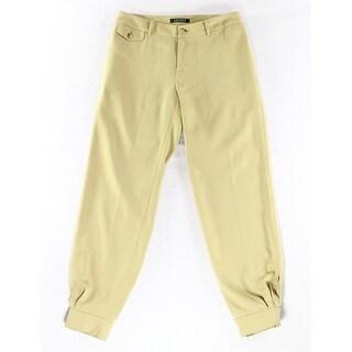 Lauren Ralph Lauren NEW Beige Womens Size 4X28 Tapered Leg Dress Pants