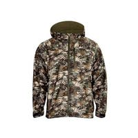 Rocky Outdoor Jacket Mens Hood Waterproof Suede Camo