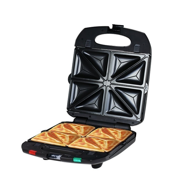 ZZ SM431-B 4 in 1 Sandwich Maker with Removable Non-Stick Plate 1200W, Black