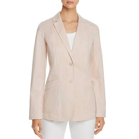 Lafayette 148 New York Womens Boston Two-Button Blazer Striped Suit Seperate - Clay Multi
