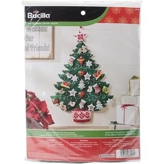 "Nordic Tree Advent Calendar Felt Applique Kit-17""X24"""