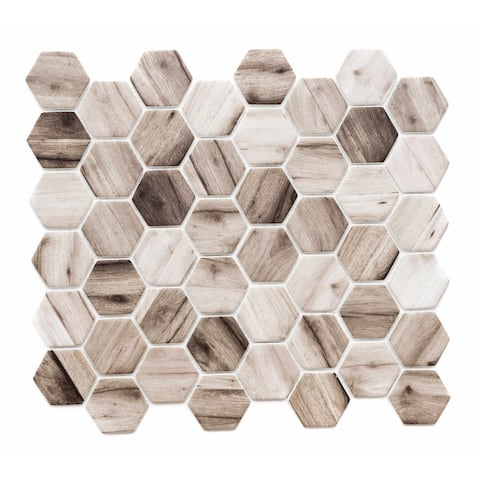 """The Tile Life Recycled 1.88"""" x 1.88"""" Glass Mosaic Tile"""