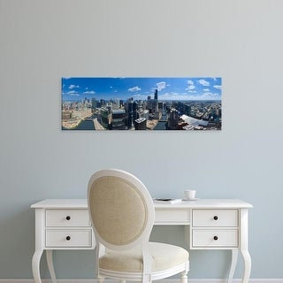 Easy Art Prints Panoramic Images's 'View of a city, Lake Michigan, Chicago, Cook County, Illinois' Premium Canvas Art