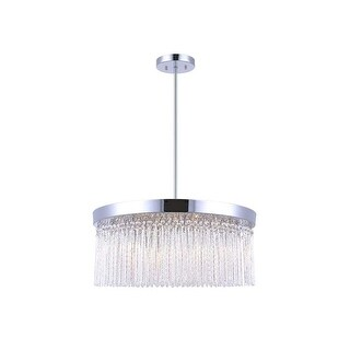 "Canarm ICH454A0622 Monaco 6 Light 58"" High Crystal Drum Chandelier"
