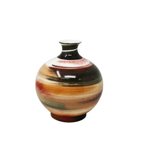 Eye-Catching Decorative Ceramic Vase, Multicolor