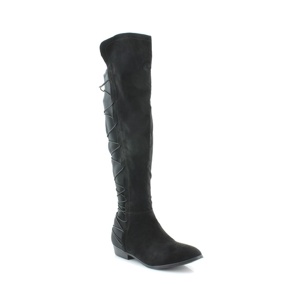 Material Girl Cayln Women's Boots Black Fabric - 9