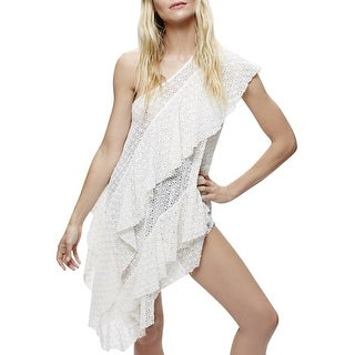 Free People Girls Girls Girls Cotton Flounce Dress White - s