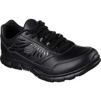 Skechers Women's Work Nabroc Slip Resistant Sneaker Black