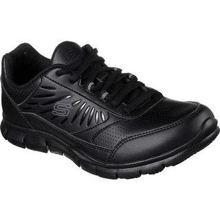 19009ab982fa Skechers Women s Work Nabroc Slip Resistant Sneaker Black