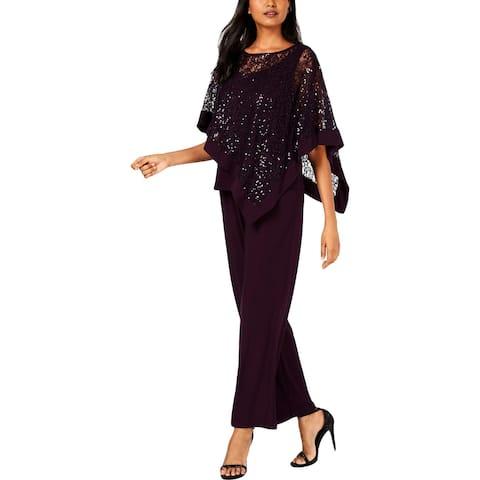 R&M Richards Womens Pant Suit Lace Sequined