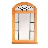 Vanity Mirror Windowpane Arch Heirloom Pine 39 H