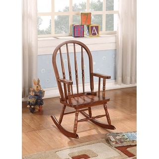 Youth Rocking Chair, Tobacco - Rubber Wood (Solid) & Ply Tobacco