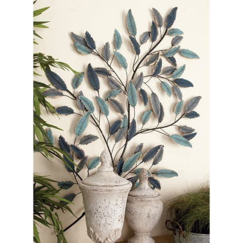 Copper Grove Blue Iron Traditional Wall Decor Floral and botanical
