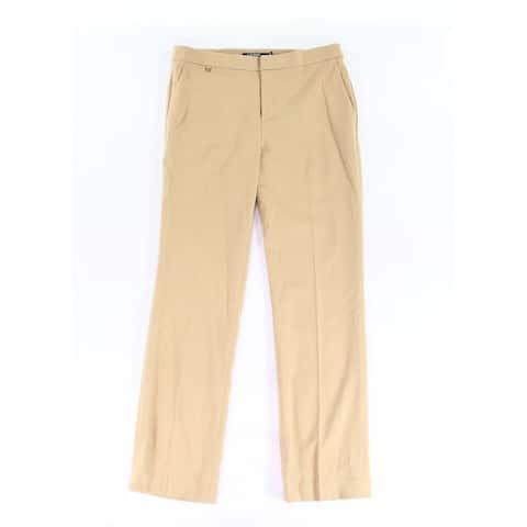 Lauren By Ralph Lauren Beige Women's Size 10X30 Dress Pants Wool