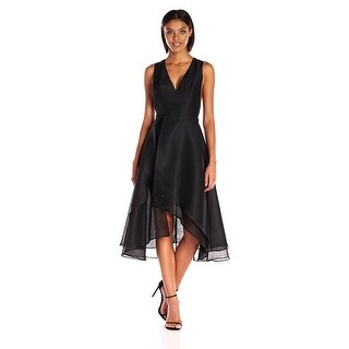 Keepsake All Yours Organza V-Neck High Low Sleeveless Cocktail Dress - s
