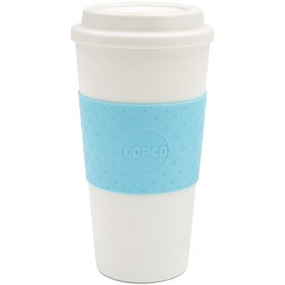 Copco Acadia Double Walled Insulation Hot or Cold Travel Mug 16 Ounce Azure Blue