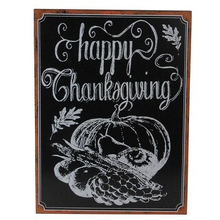 "14"" Holiday Inspired Framed ""Happy Thanksgiving"" Chalkboard Wall Art"
