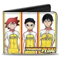 Crunchyroll Yowamushi Pedal Team Sohoku 6 Riders Pose Blocks White Yellow Bi-Fold Wallet - One Size Fits most