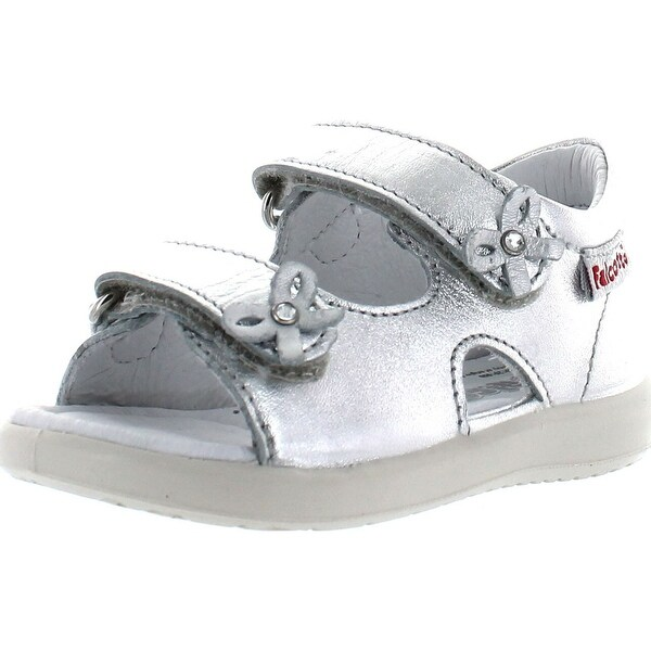 Naturino Girls 1492 Fashion Leather Sandals - Silver - 19 m eu / 3-3.5 m us infant