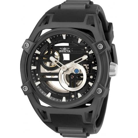 Invicta Men's 32352 'Akula' Automatic Black and Gunmetal Polyurethane and Stainless Steel Watch