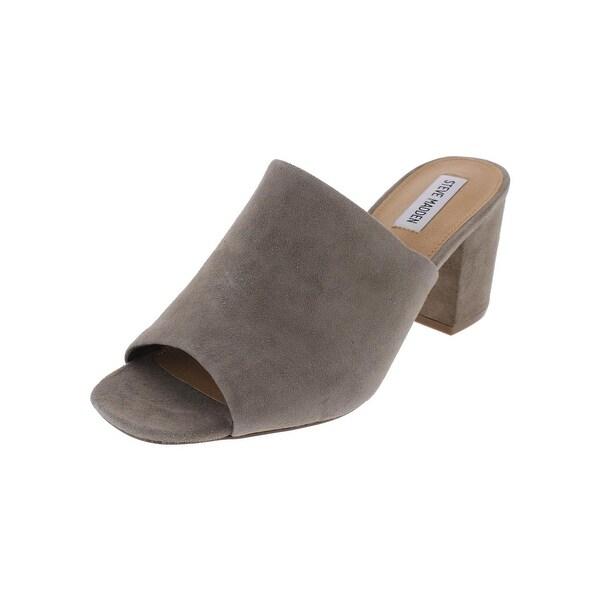 Steve Madden Womens Sliding Dress Sandals Open Toe Block Heel