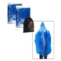 JAVOedge Blue Over the Head Poncho, Light Weight