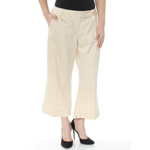 KAREN KANE Womens Beige Capri Pants Size S