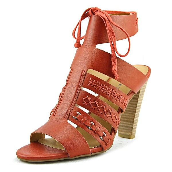 Lucky Brand Radfas Women Open-Toe Leather Red Heels