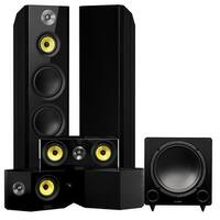 Fluance Signature Series Surround Sound Home Theater 5.1 Channel System with Bipolar Speakers - Black Ash (HF51BB)