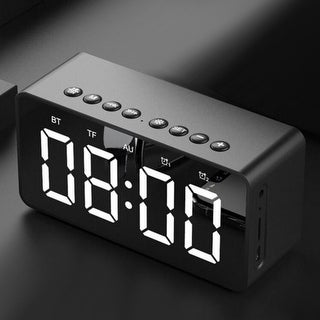 Alarm Clock, Fm Radio,  Bluetooth Wireless Speaker, Portable - Nightstand Large Display Clock