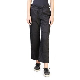 Prada Women's Cotton Polyester Blend Cargo Pants Black