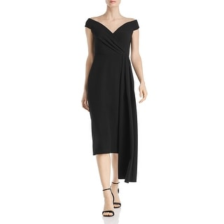 Link to Eliza J Womens Cocktail Dress Off-The-Shoulder Pleated - Black Similar Items in Dresses