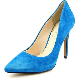 Jessica Simpson Premer Women Pointed Toe Suede Blue Heels