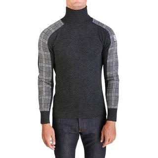 Moncler Gamme Bleu Men's Virgin Wool Turtleneck Sweater Grey Plaid|https://ak1.ostkcdn.com/images/products/is/images/direct/19dff43a543f9120bc5a14f3c479cd15253cd425/Moncler-Gamme-Bleu-Men%27s-Virgin-Wool-Turtleneck-Sweater-Grey-Plaid.jpg?impolicy=medium
