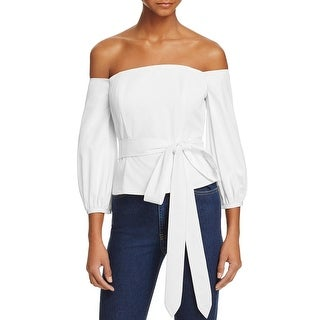 Lucy Paris Womens Blouse Off-The-Shoulder Stretch