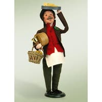 13.5 Festive Seasons Cheese Monger Christmas Figure - brown