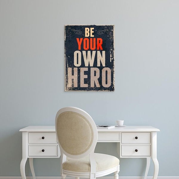 Easy Art Prints GraphINC's 'Be Your Own Hero' Premium Canvas Art
